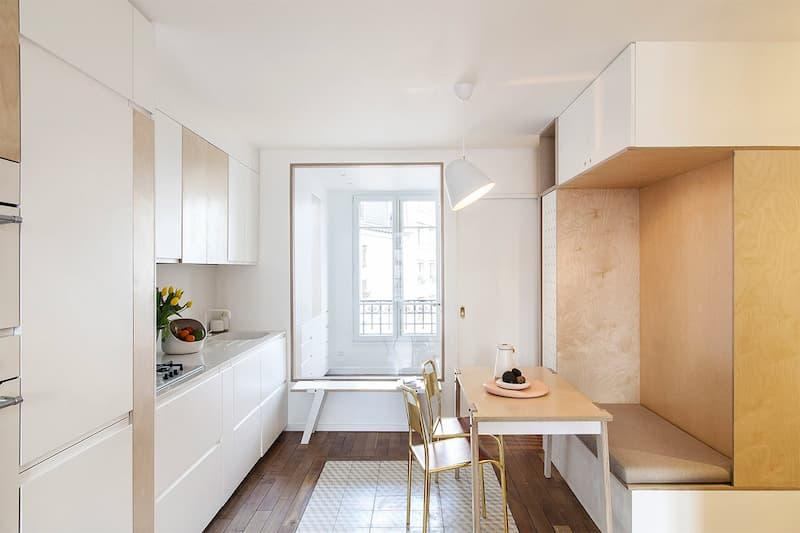 50 Mẫu nhà bếp nhỏ đẹp dành cho nhà ống, căn hộ chung cư 32