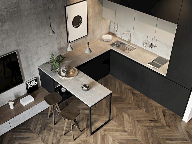 50 Mẫu nhà bếp nhỏ đẹp dành cho nhà ống, căn hộ chung cư 34