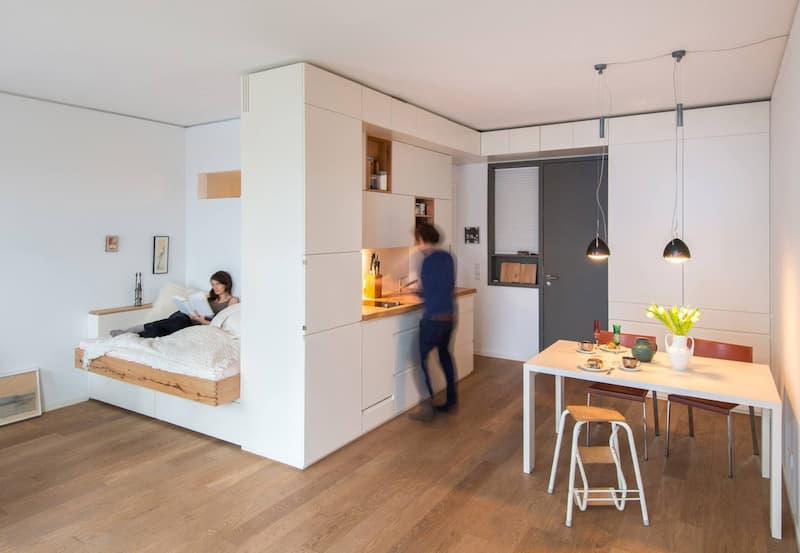 50 Mẫu nhà bếp nhỏ đẹp dành cho nhà ống, căn hộ chung cư 37