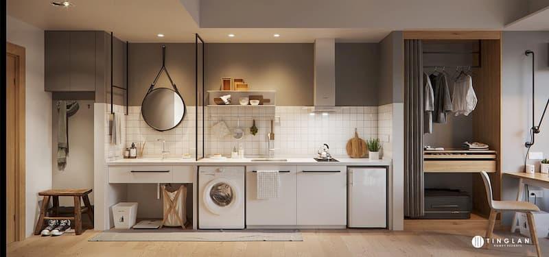 50 Mẫu nhà bếp nhỏ đẹp dành cho nhà ống, căn hộ chung cư 4