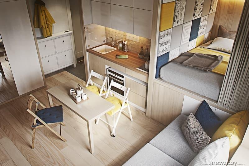 50 Mẫu nhà bếp nhỏ đẹp dành cho nhà ống, căn hộ chung cư 39