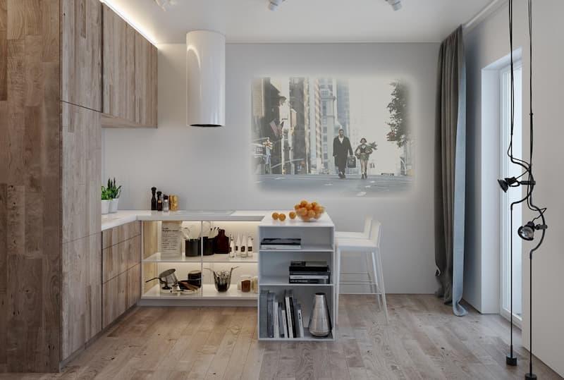 50 Mẫu nhà bếp nhỏ đẹp dành cho nhà ống, căn hộ chung cư 41