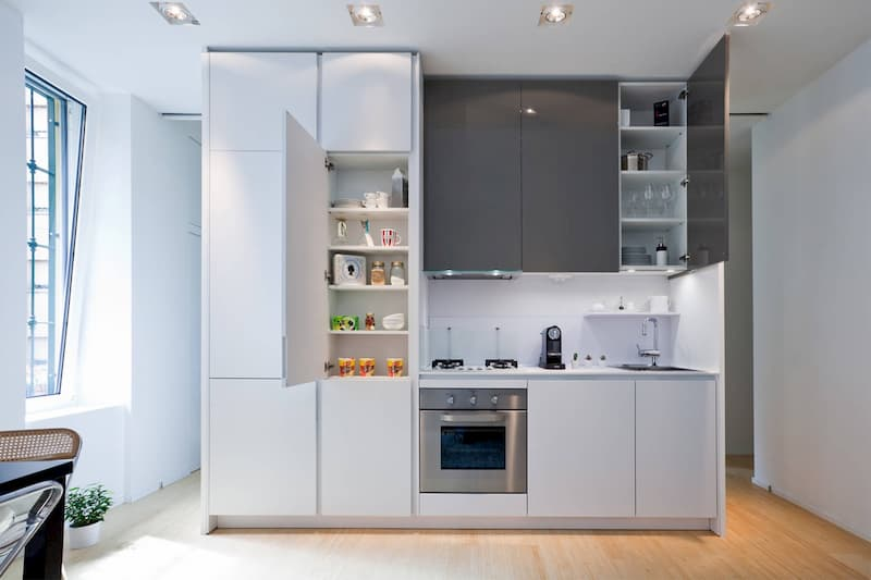 50 Mẫu nhà bếp nhỏ đẹp dành cho nhà ống, căn hộ chung cư 43
