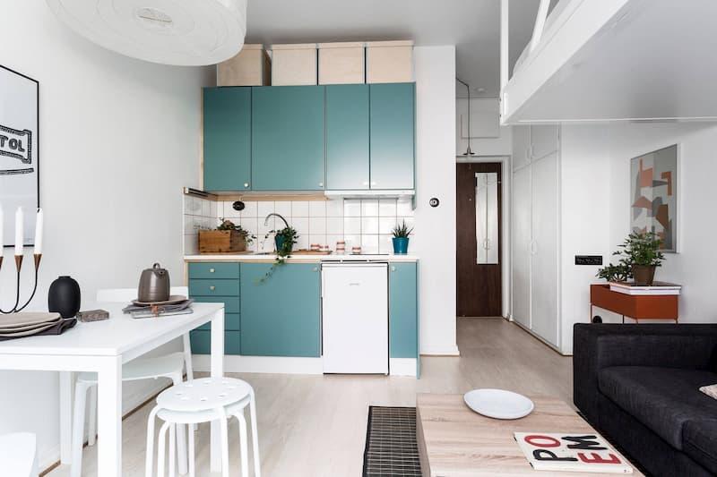 50 Mẫu nhà bếp nhỏ đẹp dành cho nhà ống, căn hộ chung cư 44