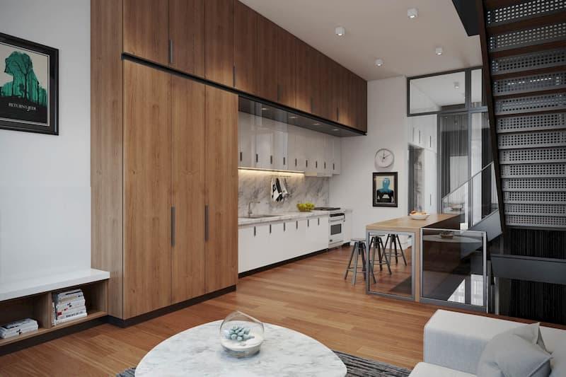 50 Mẫu nhà bếp nhỏ đẹp dành cho nhà ống, căn hộ chung cư 5