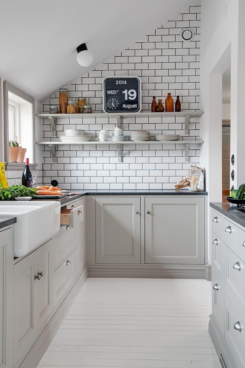 50 Mẫu nhà bếp nhỏ đẹp dành cho nhà ống, căn hộ chung cư 7