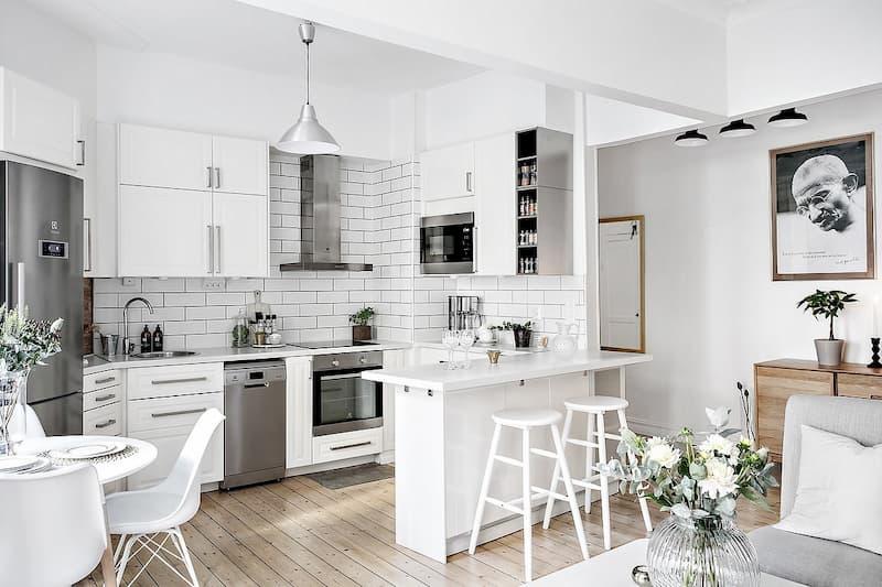50 Mẫu nhà bếp nhỏ đẹp dành cho nhà ống, căn hộ chung cư 8
