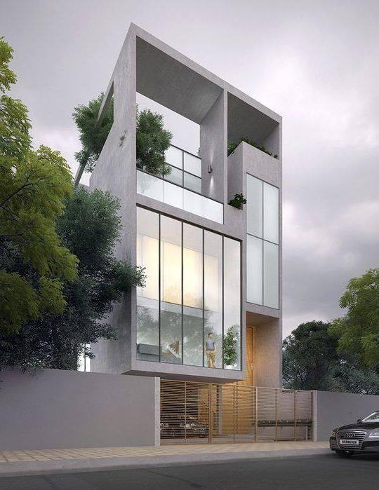 34 Mẫu thiết kế nhà phố 4 tầng đẹp hiện đại và đơn giản 6