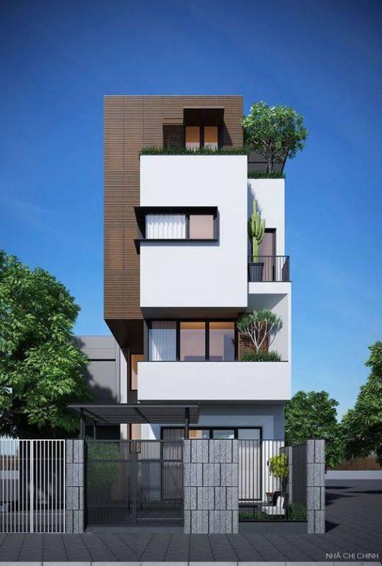 34 Mẫu thiết kế nhà phố 4 tầng đẹp hiện đại và đơn giản 7