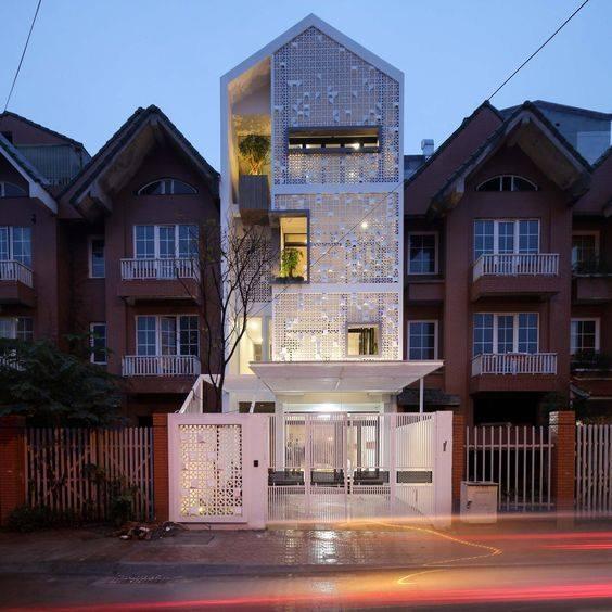 34 Mẫu thiết kế nhà phố 4 tầng đẹp hiện đại và đơn giản 8