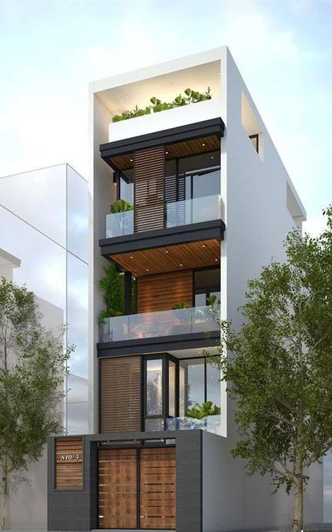 34 Mẫu thiết kế nhà phố 4 tầng đẹp hiện đại và đơn giản 9