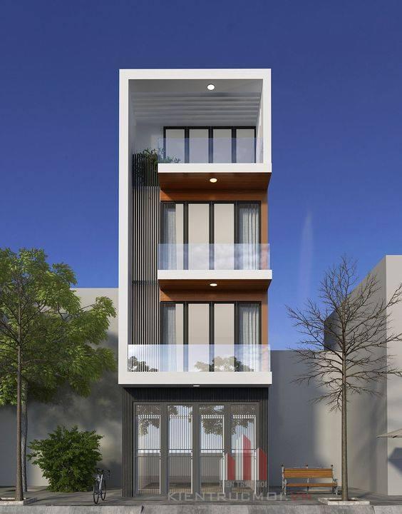 34 Mẫu thiết kế nhà phố 4 tầng đẹp hiện đại và đơn giản 10