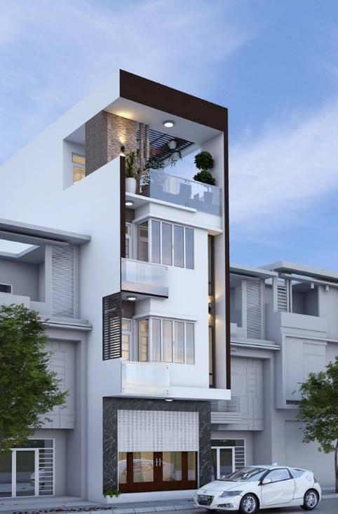 34 Mẫu thiết kế nhà phố 4 tầng đẹp hiện đại và đơn giản 11