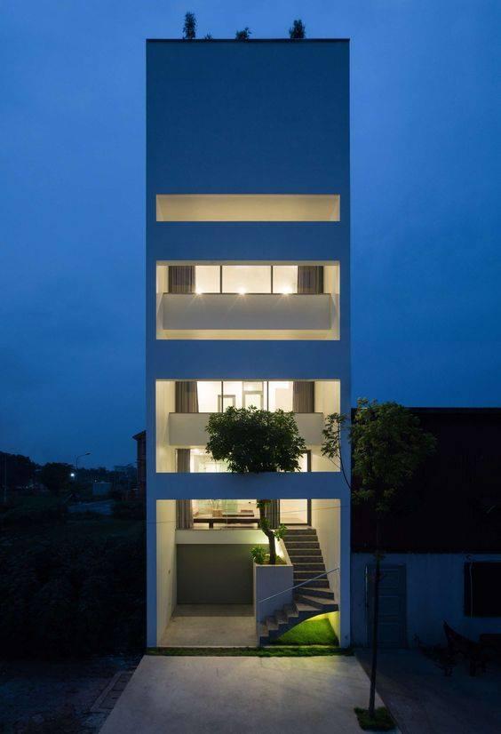 34 Mẫu thiết kế nhà phố 4 tầng đẹp hiện đại và đơn giản 13