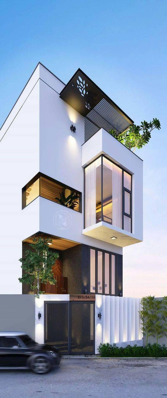 34 Mẫu thiết kế nhà phố 4 tầng đẹp hiện đại và đơn giản 14