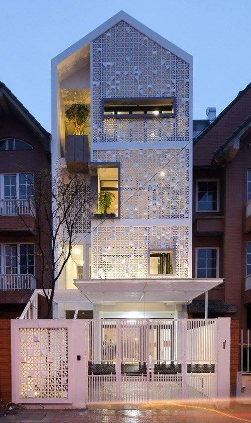 34 Mẫu thiết kế nhà phố 4 tầng đẹp hiện đại và đơn giản 16