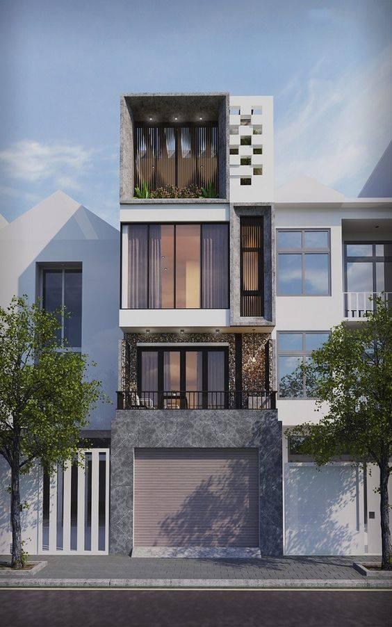34 Mẫu thiết kế nhà phố 4 tầng đẹp hiện đại và đơn giản 17