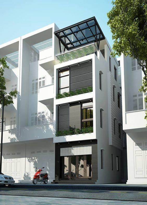 34 Mẫu thiết kế nhà phố 4 tầng đẹp hiện đại và đơn giản 18