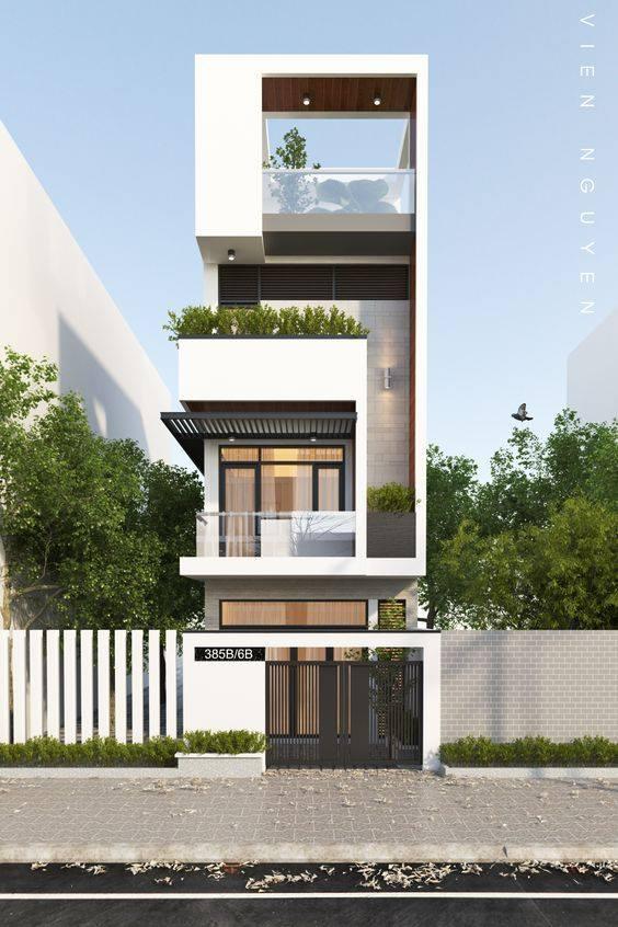 34 Mẫu thiết kế nhà phố 4 tầng đẹp hiện đại và đơn giản 20