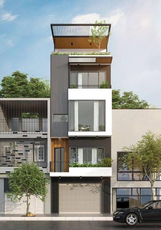 34 Mẫu thiết kế nhà phố 4 tầng đẹp hiện đại và đơn giản 21
