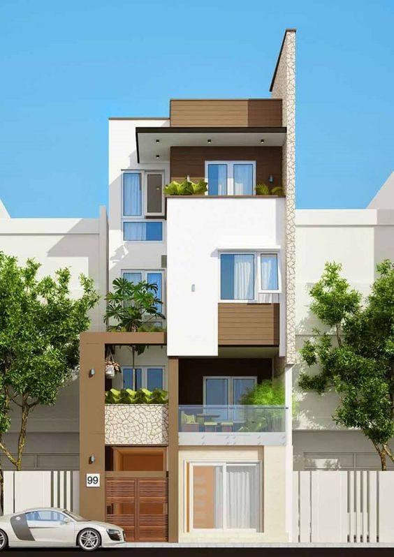 34 Mẫu thiết kế nhà phố 4 tầng đẹp hiện đại và đơn giản 25