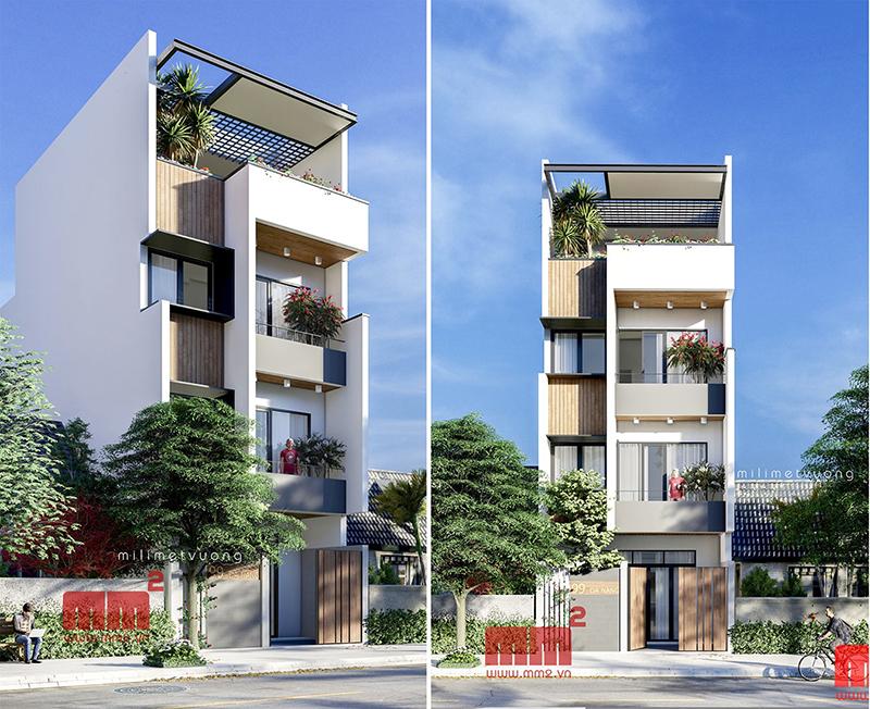 34 Mẫu thiết kế nhà phố 4 tầng đẹp hiện đại và đơn giản 26