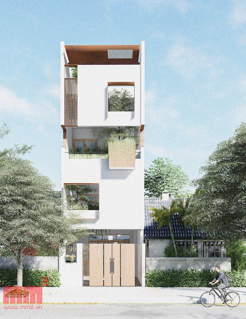 34 Mẫu thiết kế nhà phố 4 tầng đẹp hiện đại và đơn giản 27