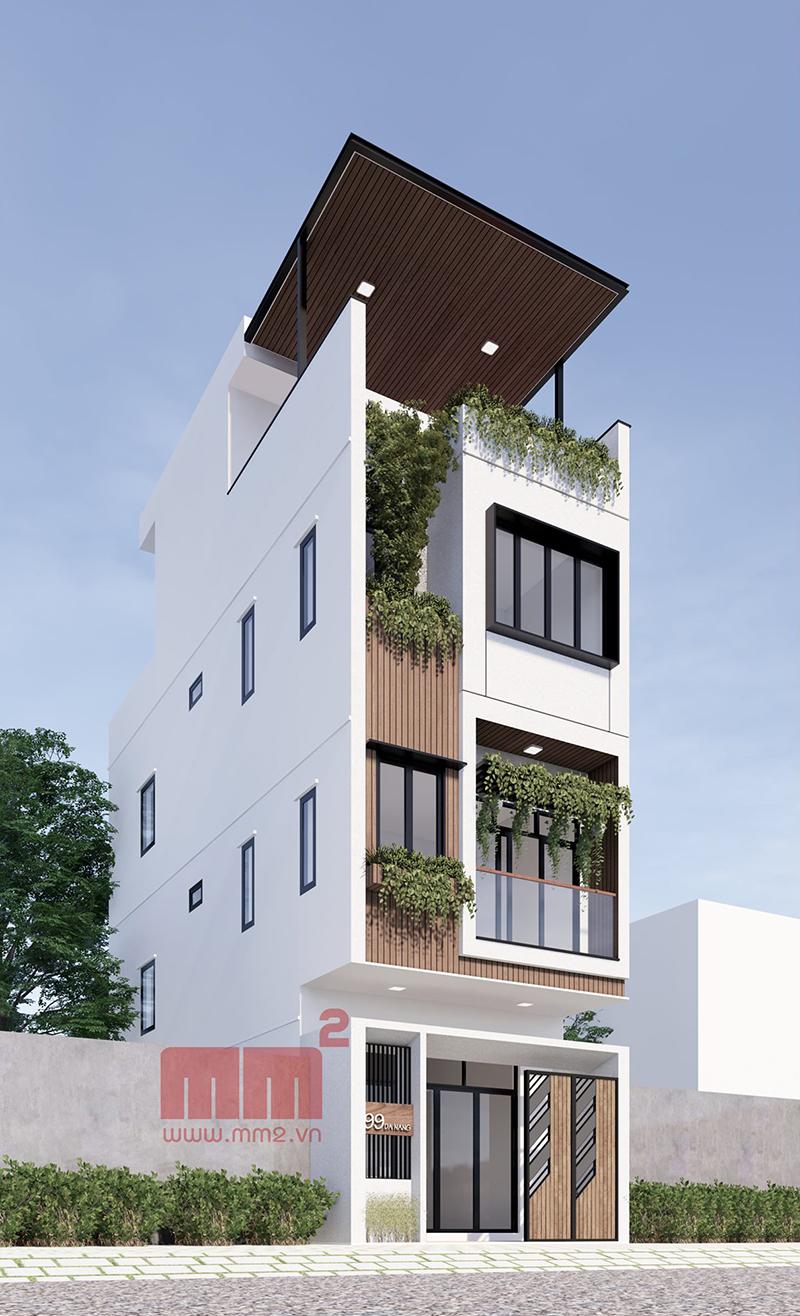 34 Mẫu thiết kế nhà phố 4 tầng đẹp hiện đại và đơn giản 28