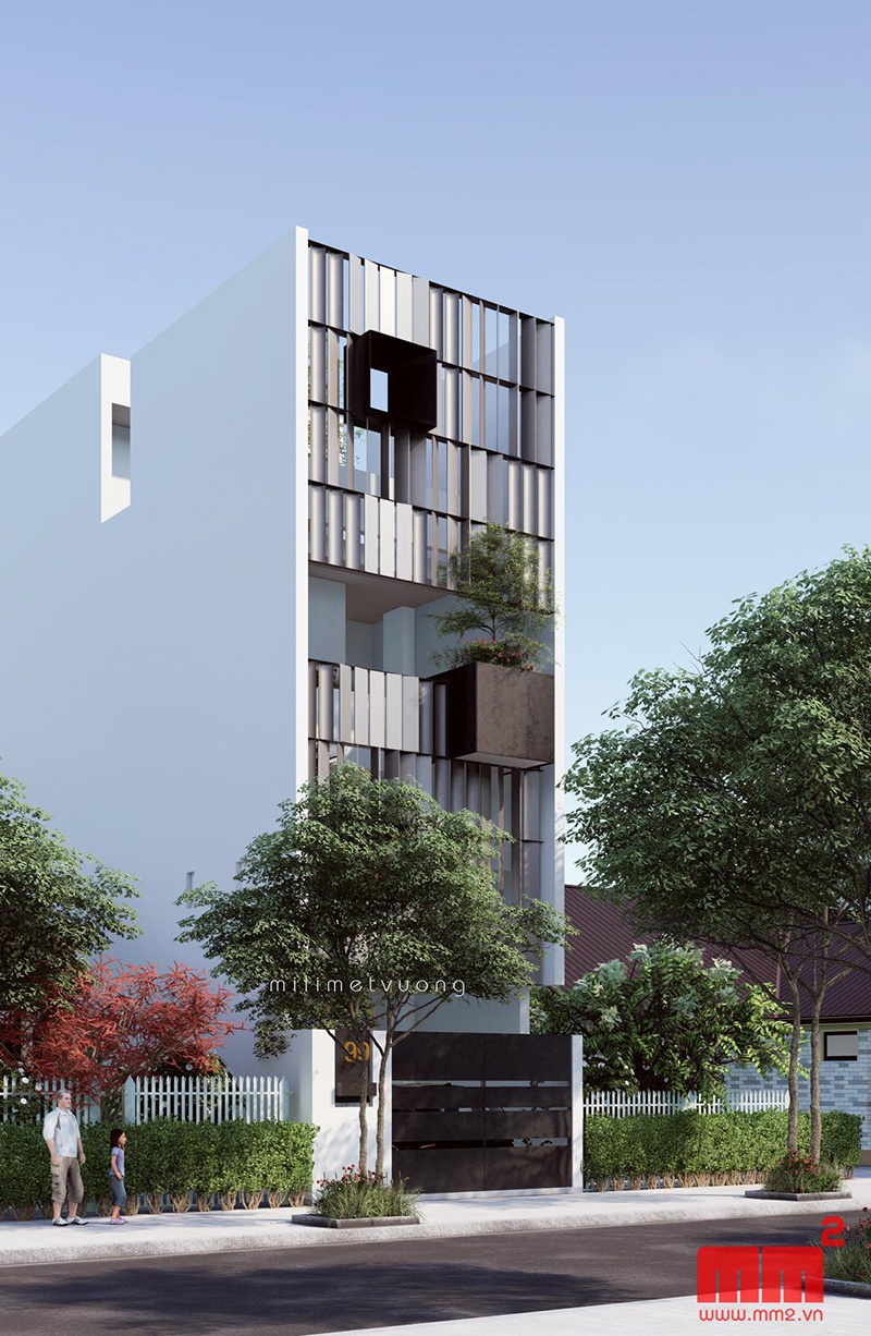 34 Mẫu thiết kế nhà phố 4 tầng đẹp hiện đại và đơn giản 30