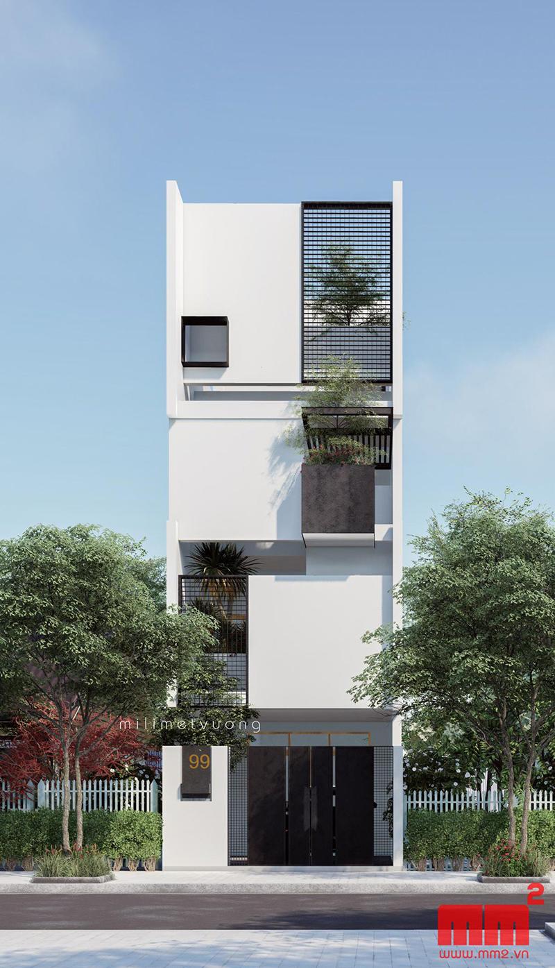 34 Mẫu thiết kế nhà phố 4 tầng đẹp hiện đại và đơn giản 33