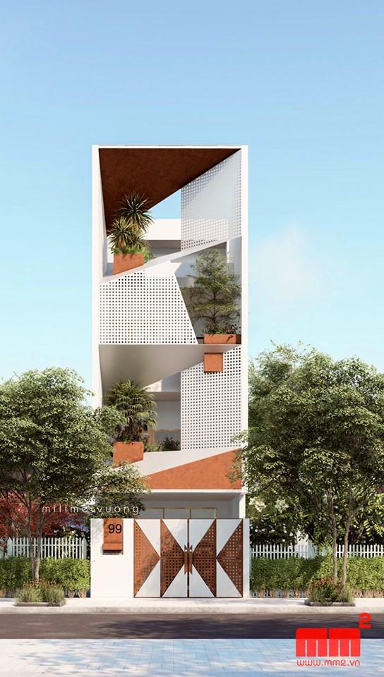 34 Mẫu thiết kế nhà phố 4 tầng đẹp hiện đại và đơn giản 2