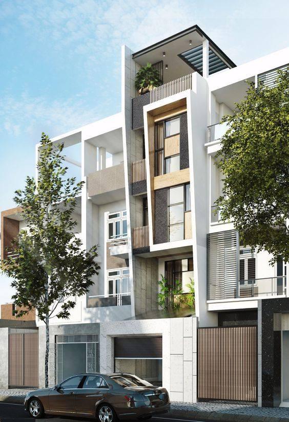 34 Mẫu thiết kế nhà phố 4 tầng đẹp hiện đại và đơn giản 3