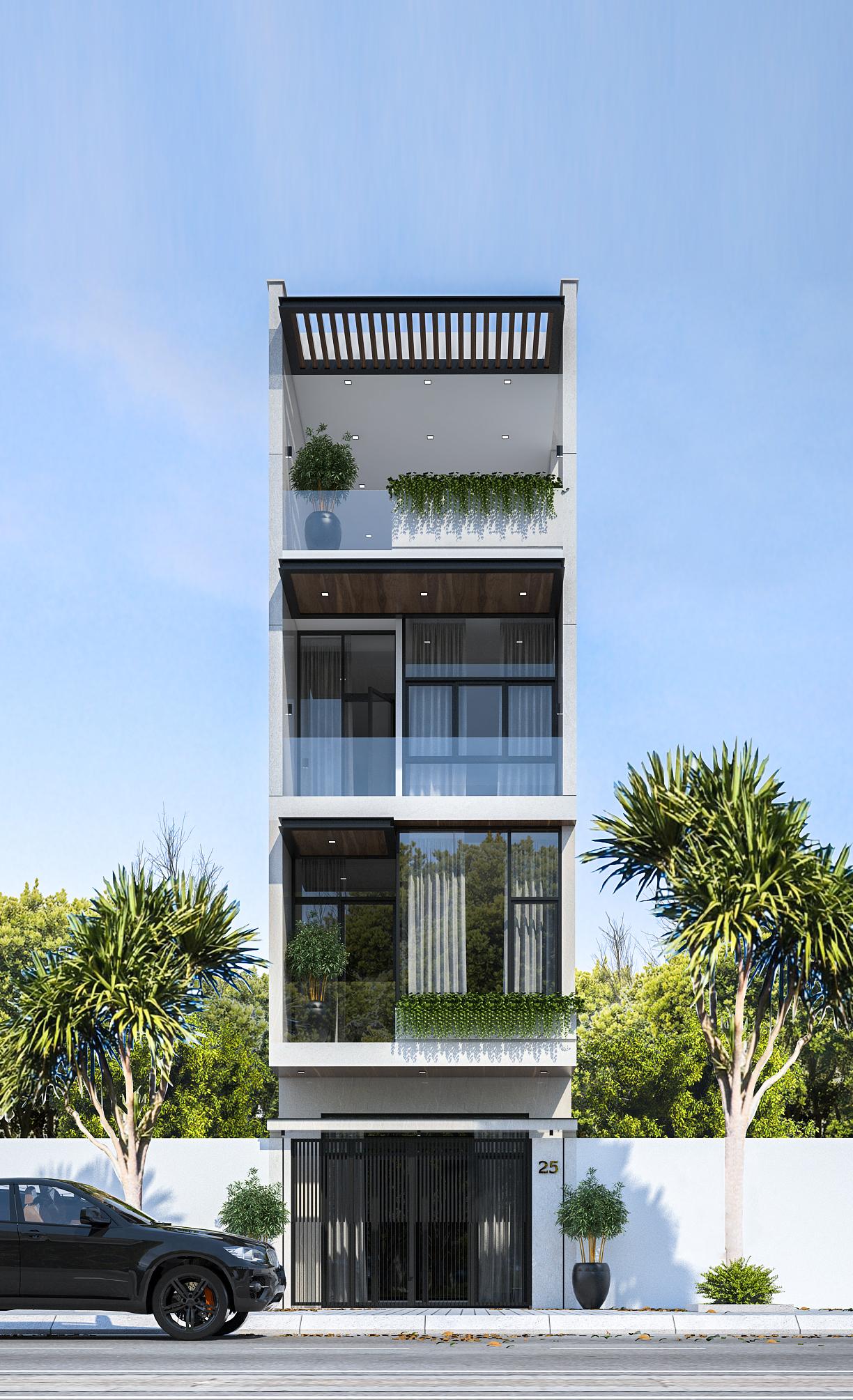 34 Mẫu thiết kế nhà phố 4 tầng đẹp hiện đại và đơn giản 34