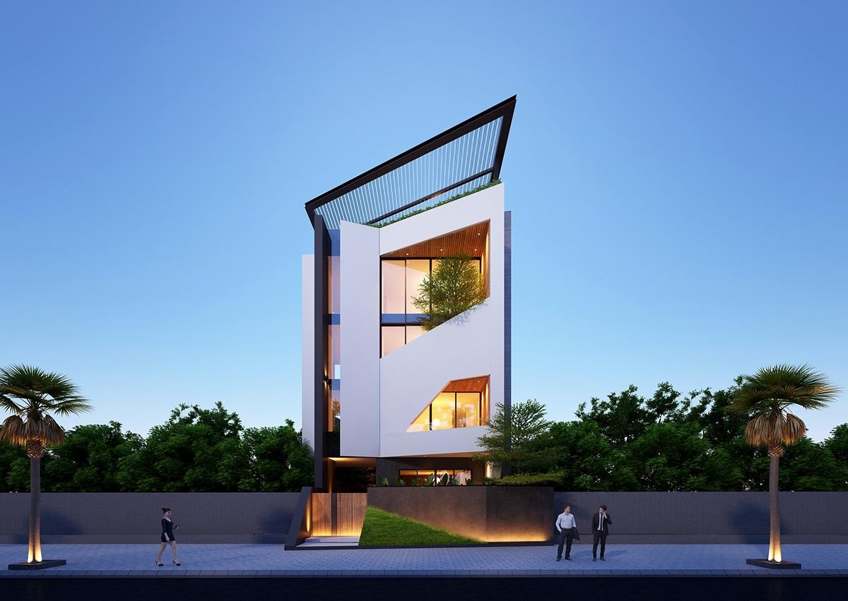 34 Mẫu thiết kế nhà phố 4 tầng đẹp hiện đại và đơn giản 5