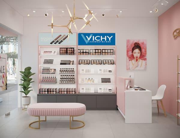 Tư vấn thiết kế shop mỹ phẩm đẹp gây ấn tượng mạnh 2