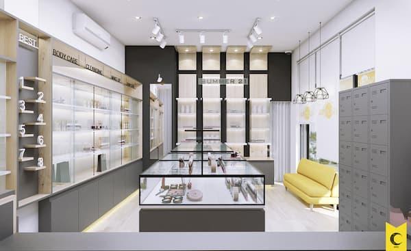 Tư vấn thiết kế shop mỹ phẩm đẹp gây ấn tượng mạnh 20